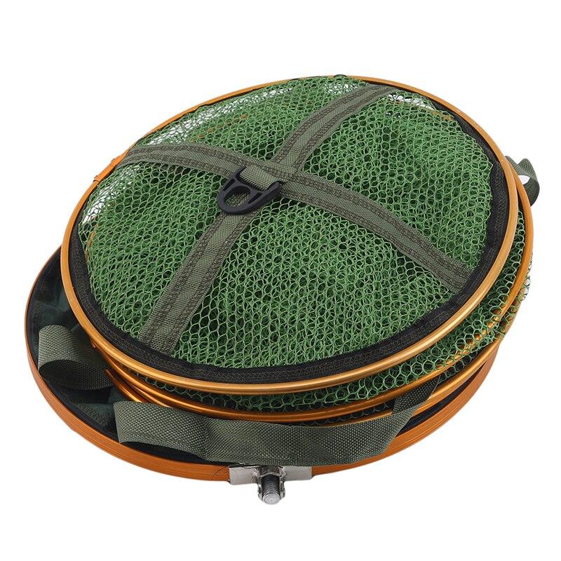 1.7m/2m/2.5m Fishing Net With Bag Quick-Drying Glue Fishing Trap Nets Foldable Crayfish Carp Fishing Accessories